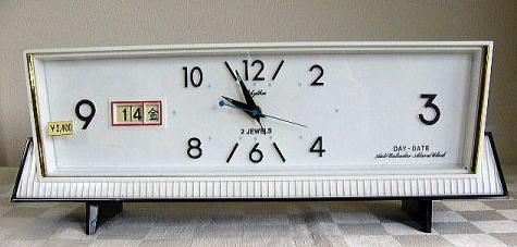 アンティーク,アラーム,置時計,リズム時計,機械式手巻き