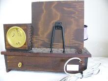 アンティーク,オルゴール,目覚まし時計,メイコー,名巧舎